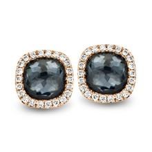 Tirisi Moda Tirisi Milano Mini Sweeties Oorknoppen 18k Roségoud met hematiet en diamant  TE9226HMP