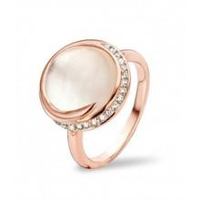Tirisi Moda TIRISI Ring Seoul 18k Roségoud met 0.16ct diamant en parelmoer TE1042WQP