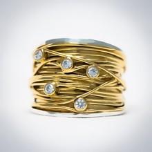 Vinx VINX Ring Adelheit 14k gouden draad 0,30ct briljant V002 ZGB5