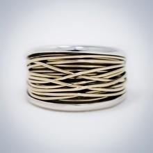 Vinx VINX Ring zilver met 14k gouden draad Annabetje 4015ZG