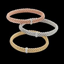 Fope FOPE Armband Flex-It Vendôme 0.10ct 18k geelgoud 560B BBR M G
