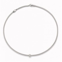 Fope FOPE Collier Eka Tiny 0.19ct 18k witgoud 730C Pave W 45cm
