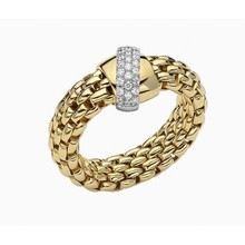 Fope FOPE Ring Geelgoud Vendome 0.20ct 18k AN542 BBRM