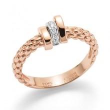 Fope FOPE Ring Prima 18k Roségoud met 0.05ct AN743 BBR R