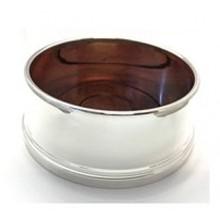 ZIlveren flessenbak met houten bodem 11cm 05762