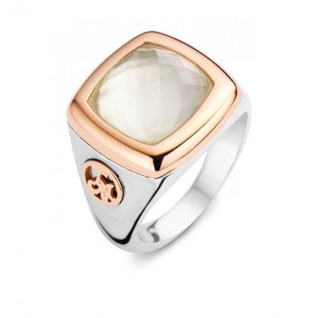 Tirisi Moda TIRISI Moda Ring zilver met 18k Roségoud TM1053KR (2P)