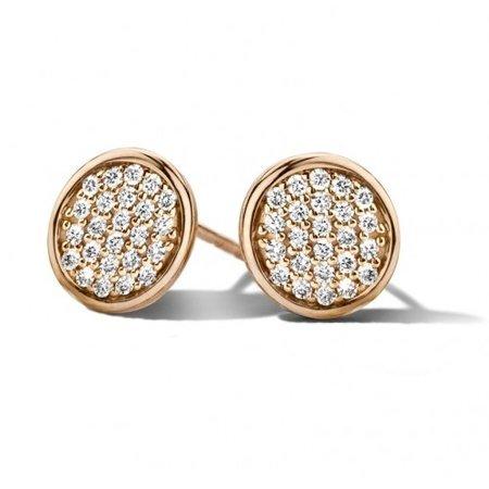 Mrs.Janssen MRS.Janssen Oorstekers 14k roségoud met diamant 0.24ct 604197