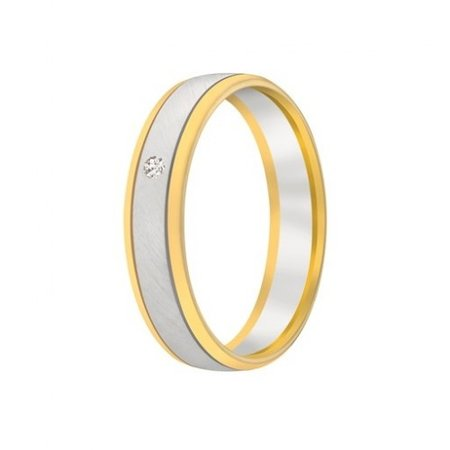 Aller Spanninga Aller Spaninga trouwringen 14k Bicolor geel wit goud 1028