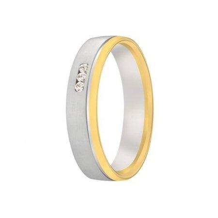 Aller Spanninga Aller Spaninga trouwringen 14k Bicolor geel wit goud 1026