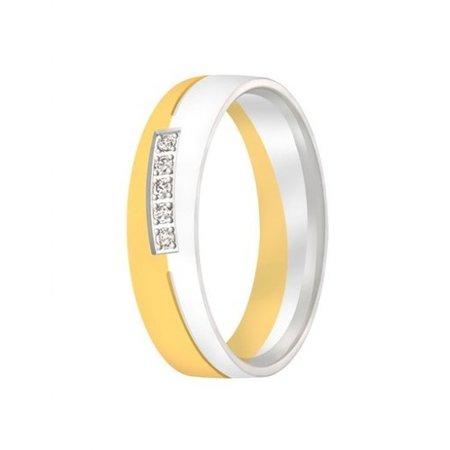 Aller Spanninga Aller Spaninga trouwringen 14k Bicolor geel wit goud 1009