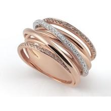 AL CORO AL CORO Serenata ring rosegoud 18k met 0,45ct briljant R6405BD