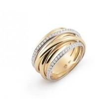 AL CORO AL CORO Serenata ring geelgoud 18k met 0,44ct briljant R6406WG