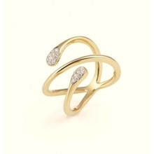 AL CORO AL CORO Goccia ring geelgoud 18k met 0.20ct briljant R7558G