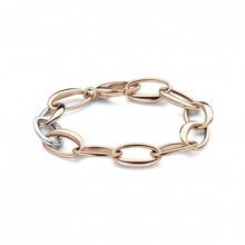 HuisCollectie HuisCollectie Armband 14k roségoud/witgoud met 0.216ct diamant 20649