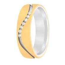 Aller Spanninga Aller Spaninga trouwringen 14k Bicolor geel wit goud 979