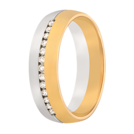 Aller Spanninga Aller Spaninga trouwringen 14k Bicolor geel wit goud 978