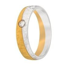 Aller Spanninga Aller Spaninga trouwringen 14k Bicolor geel wit goud 966