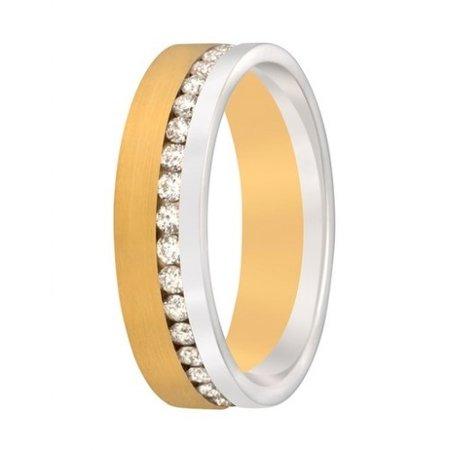 Aller Spanninga Aller Spaninga trouwringen 14k Bicolor geel wit goud 964