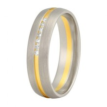 Aller Spanninga Aller Spaninga trouwringen 14k Bicolor geel wit goud 159