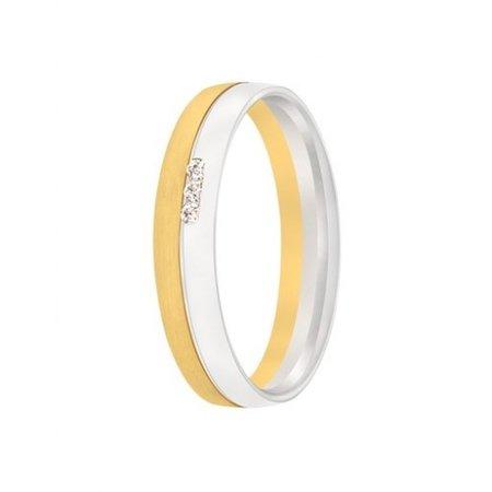 Aller Spanninga Aller Spaninga trouwringen 14k Bicolor geel wit goud 1033