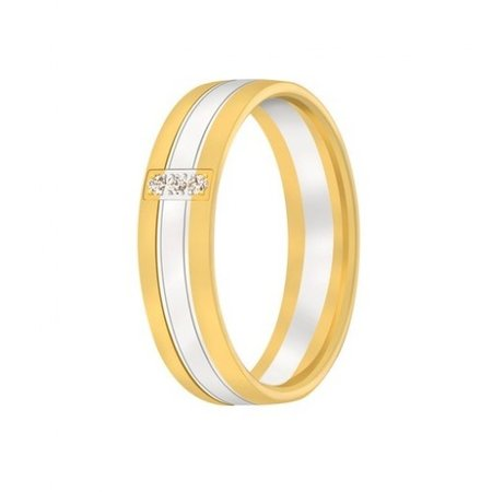 Aller Spanninga Aller Spaninga trouwringen 14k Bicolor geel wit goud 1030
