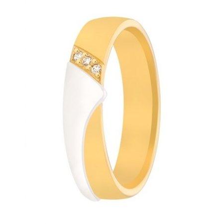 Aller Spanninga Aller Spaninga trouwringen 14k Bicolor geel wit goud 992