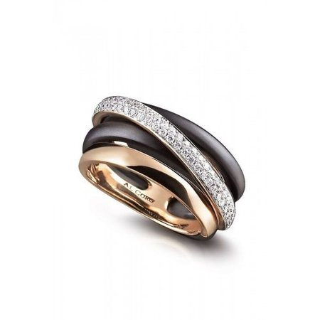 AL CORO AL CORO neraviglia ring rosegoud 18k met 0,37ct briljant NR10970R