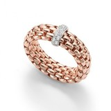 Fope FOPE Ring roségoud Vendome Flex-It 0.10ct 18k  AN559 BBR R