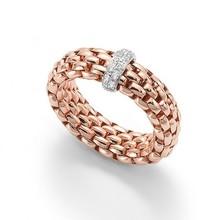 Fope FOPE Ring roségoud Vendome Flex-It 0.10ct 18k witgoud AN559 BBR R