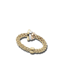 Fope FOPE Ring Flex-It 0.10ct 18k geelgoud AN744MG