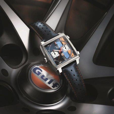 Tag Heuer TAG HEUER Monaco Gulf Calibre 11 Automatic Chronograph 39mm CAW211R.FC6401