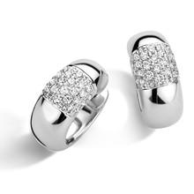 HuisCollectie HuisCollectie Creolen 14k witgoud met diamant 0.32 crt 606168