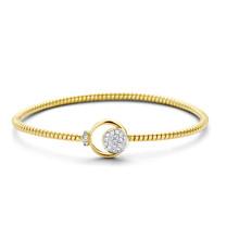 Tirisi Moda TIRISI Armband Amsterdam 18K Geelgoud met 0.21ct diamant TB2088D(2T)