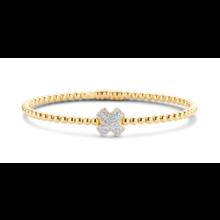 Tirisi Moda TIRISI Armband Amsterdam 18K Geelgoud met 0.30ct diamant TB2106D(2T)