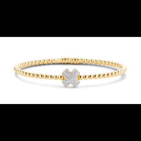 Tirisi Moda TIRISI Armband Amsterdam 18K Roségoud met 0.21ct diamant TB2088D(2P) - Copy - Copy - Copy