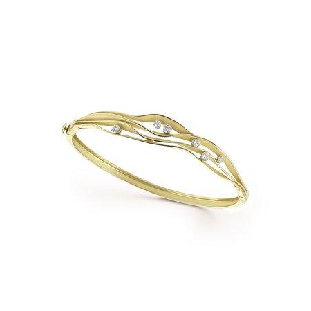 Annamaria Cammilli Annamaria Cammilli Armband Dune 18k Geelgoud met 0.35ct diamant GBR2536Y