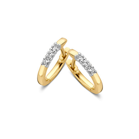 Mrs.Janssen Mrs.Janssen Creolen 14k geelgoud met 0.15ct diamant H/Si 606259