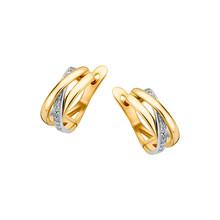HuisCollectie HuisCollectie Creolen 14k geelgoud met diamant 0.10crt 604212 - Copy