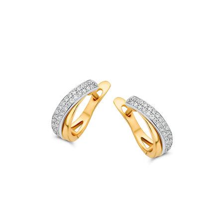 HuisCollectie HuisCollectie Creolen 14k geelgoud met diamant 0.20crt 606221