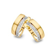 HuisCollectie HuisCollectie Creolen 14k geelgoud met diamant 0.10crt 603394