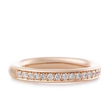 Bron BRON Ring stax 2.7mm 18k Roségoud wit diamant 0.18ctGVsi 8RR4593BR