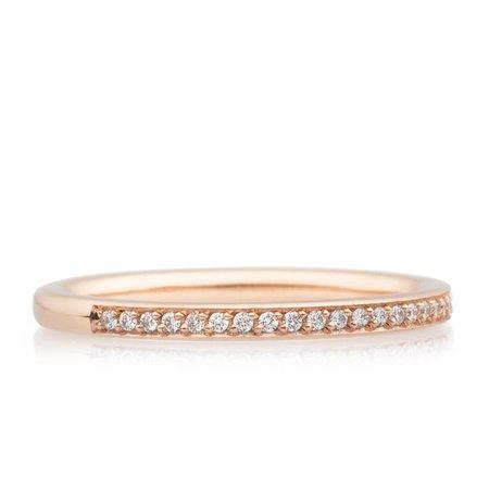 Bron BRON Ring stax 2mm 18k Roségoud  wit diamant 0.12ctGVsi 8RR3502BR