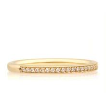 Bron BRON Ring stax 2mm 18k Geelgoud  wit diamant 0.12ctGVsi 8RG3502BR