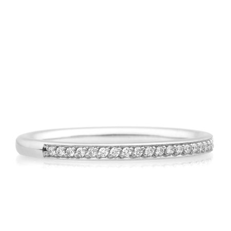 Bron BRON Ring stax 2mm 18k Witgoud  wit diamant 0.12ctGVsi 8RW3502BR