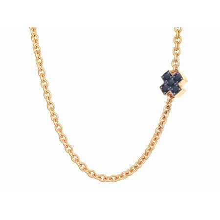 Bron BRON Collier Joy Roségoud 18k met diamant 0.10ct saffier 8CR440545CBRZK - Copy