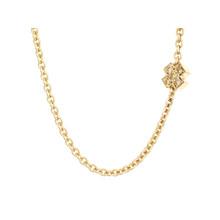 Bron BRON Collier Joy Geelgoud 18k met diamant 0.10ct saffier 8CG440545CBRZK