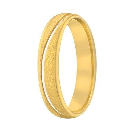 Aller Spanninga Aller Spaninga trouwringen 14k geelgoud 1027