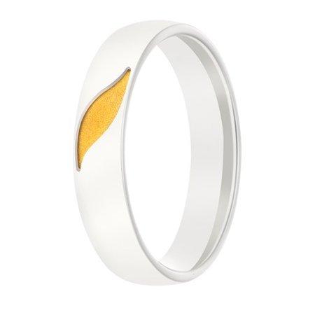 Aller Spanninga Aller Spaninga trouwringen 14k Bicolor geel wit goud 994