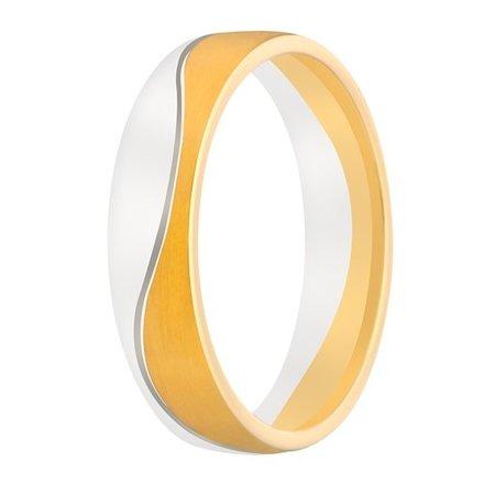 Aller Spanninga Aller Spaninga trouwringen 14k Bicolor geel wit goud 987