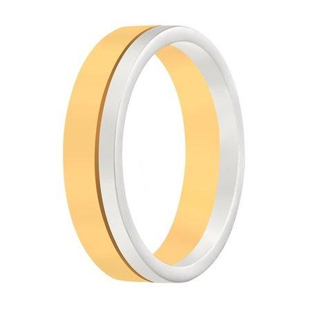 Aller Spanninga Aller Spaninga trouwringen 14k Bicolor geel wit goud 986